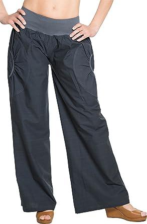 Pantalon De Yoga pour Femmes avec Poches Plus La Taille Thai Sarouel Pantalon Loose Wide Leg Taille /Élastique Pilates Pantalon De Remise en Forme