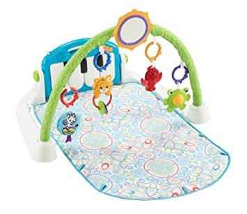 e0fd0003a09c Amazon.com   Fisher-Price First Steps Kick  n Play Piano Gym   Baby