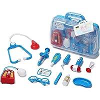 Unilove Doctor Kit Pretend Play Medical Set Case Doctor Nurse Game Playset Gift for Kids Boys Girls Over Old (Blue)