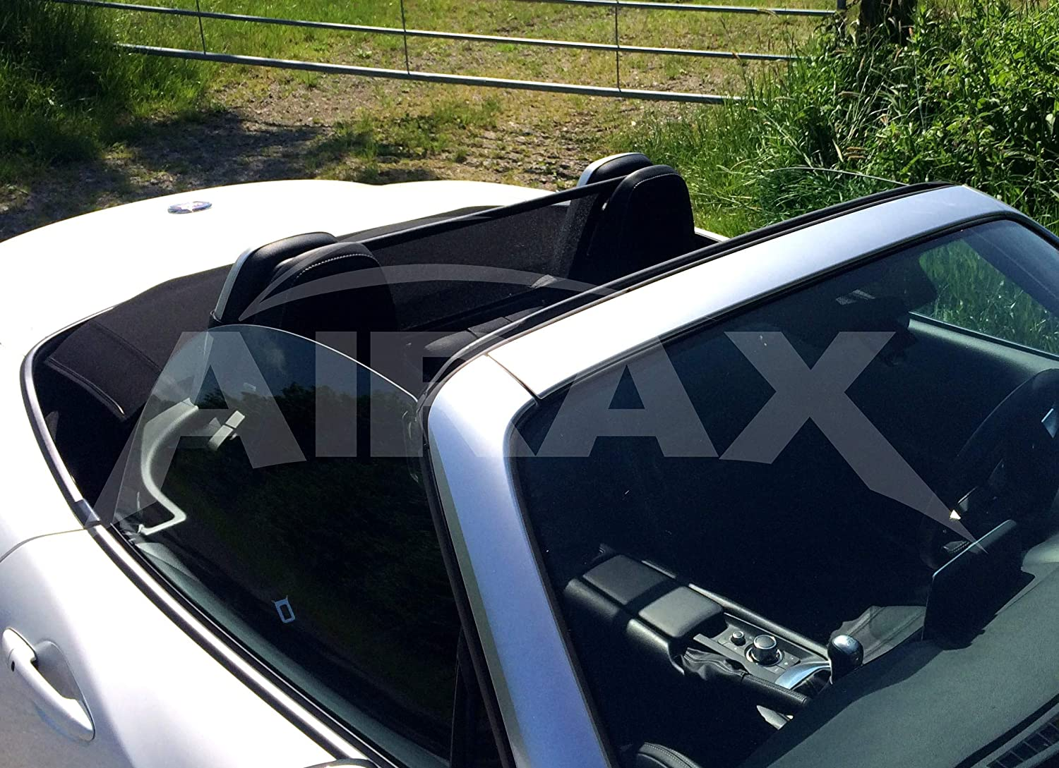 Fiat 124 Spider Wind Deflector 2016-onwards Mesh Black with Straps