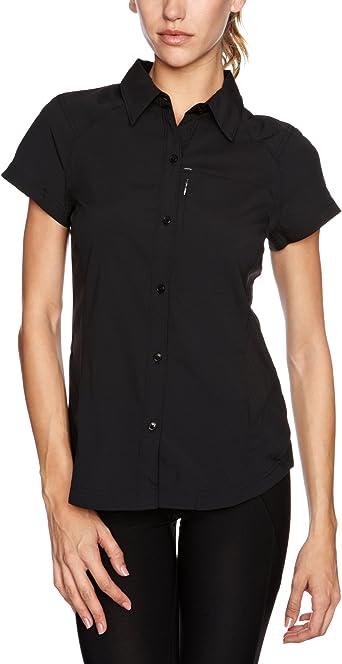Columbia Island Press - Camisa de Senderismo para Mujer, tamaño XXL, Color Negro: Amazon.es: Ropa y accesorios