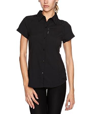 b94fefbdc0e Columbia Women's Silver Ridge Short Sleeve Shirt, Black, Medium ...