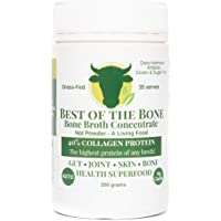 Bone Broth Concentrate - Organic Grass-fed Beef. All-natural grass-fed beef bone broth concentrate that is a true collagen, mineral and amino acid rich living gelatin - 350 Grams