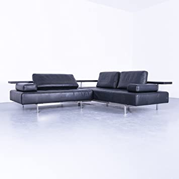 Amazonde Rolf Benz Dono Designer Leder Eck Sofa Blau Couch
