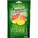 HALLS Defense Supplement Drops, (Assorted Citrus, 30 Drops)