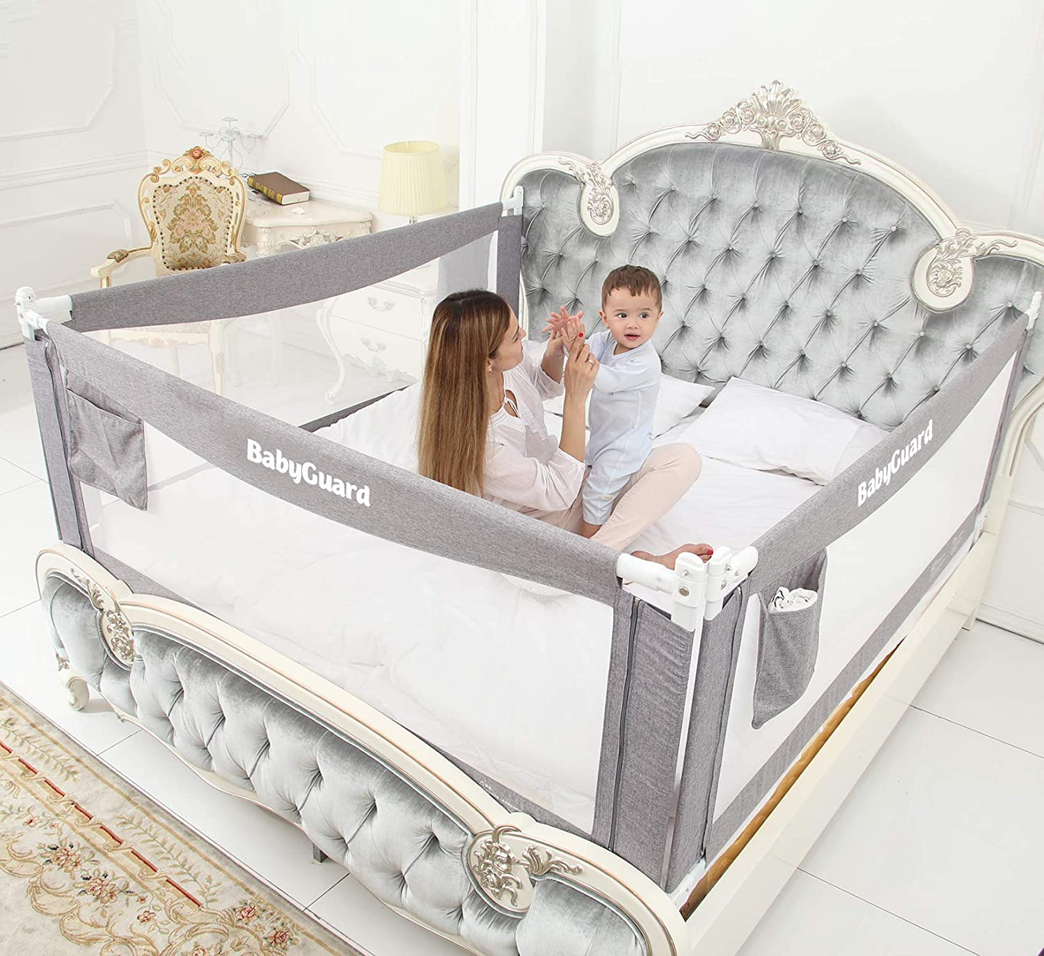 """BabyGuard Bed Rails for Toddlers - Extra Long and Tall Specially Designed for Twin, Full, Queen, King & California King Bed Mattress (1 Side, 54"""")"""
