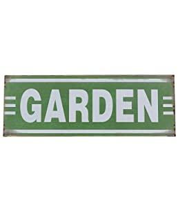"Barnyard Designs Garden Retro Vintage Tin Bar Sign Country Home Decor 13.75"" x 5"""