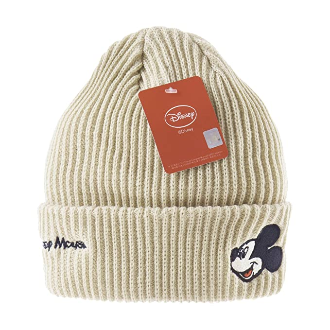 96adadbe ... store withmoons disney mickey mouse ribbed beanie hat slouchy dw5483  beige 2ffe1 bd8ca
