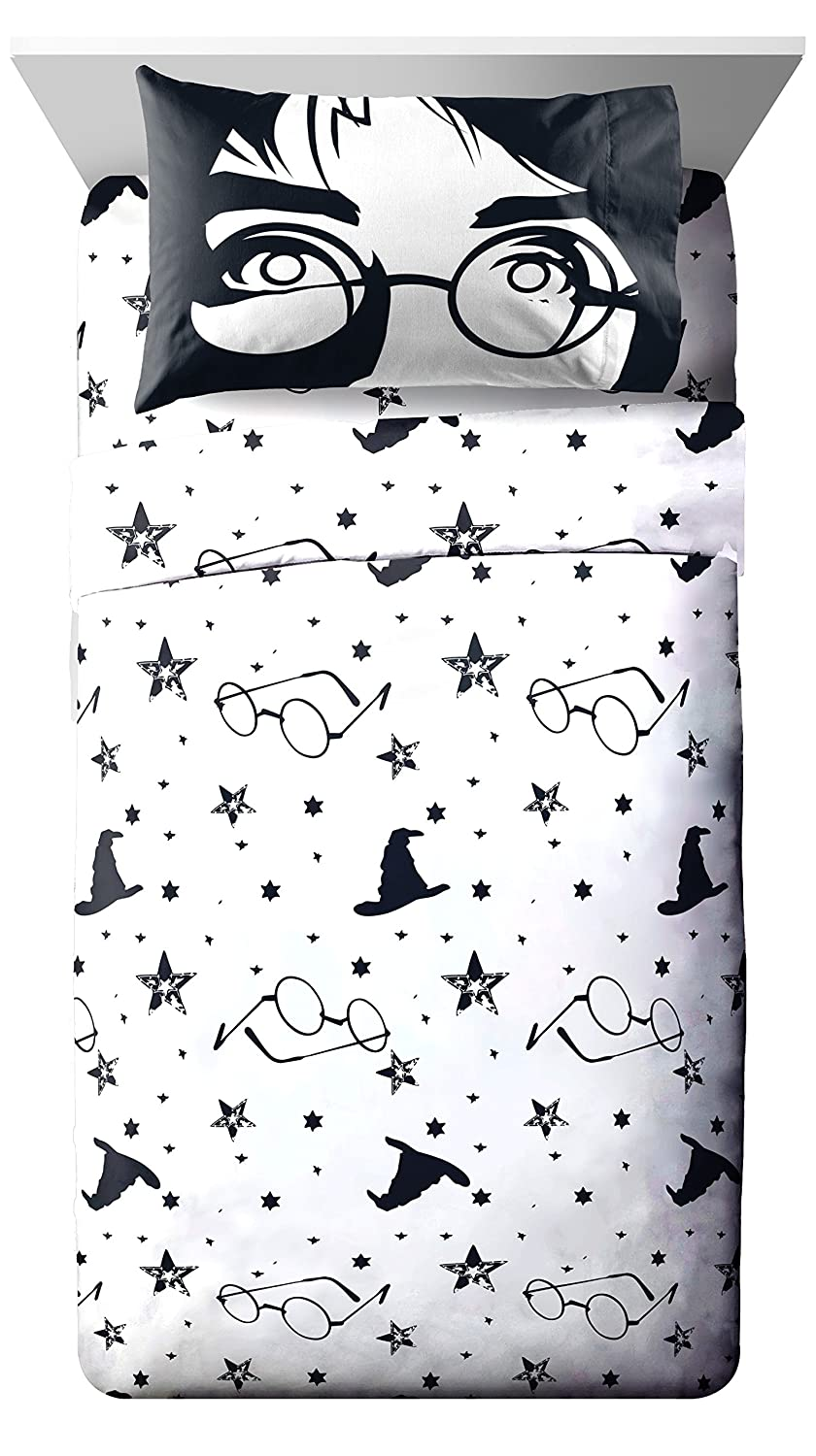 Jay Franco Harry Potter Always Twin Sheet Set - 3 Piece Set Super Soft and Cozy Kid's Bedding Features - Fade Resistant Polyester Microfiber Sheets (Official Harry Potter Product)