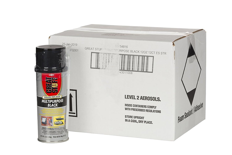 Great Stuff 99054816 Multipurpose Black, 12 oz. (Pack of 12): Amazon.com:  Industrial & Scientific