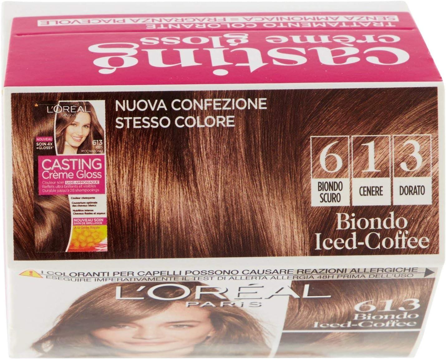 LOréal Paris Iced-Coffee 613 - Tinte para cabello sin amoniaco, color rubio