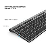 Wireless Keyboard Mouse, Compact Full Size Less