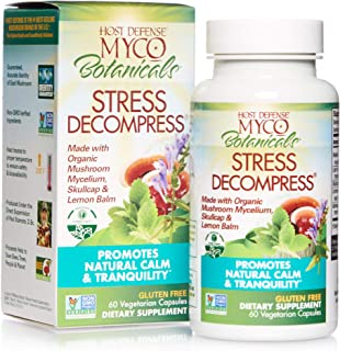 product image for Host Defense, MycoBotanicals Stress Decompress, Promotes Natural Calm and Tranquility, Daily Mushrooms and Herb Supplement, Vegan, Organic, 60 Capsules (30 Servings)