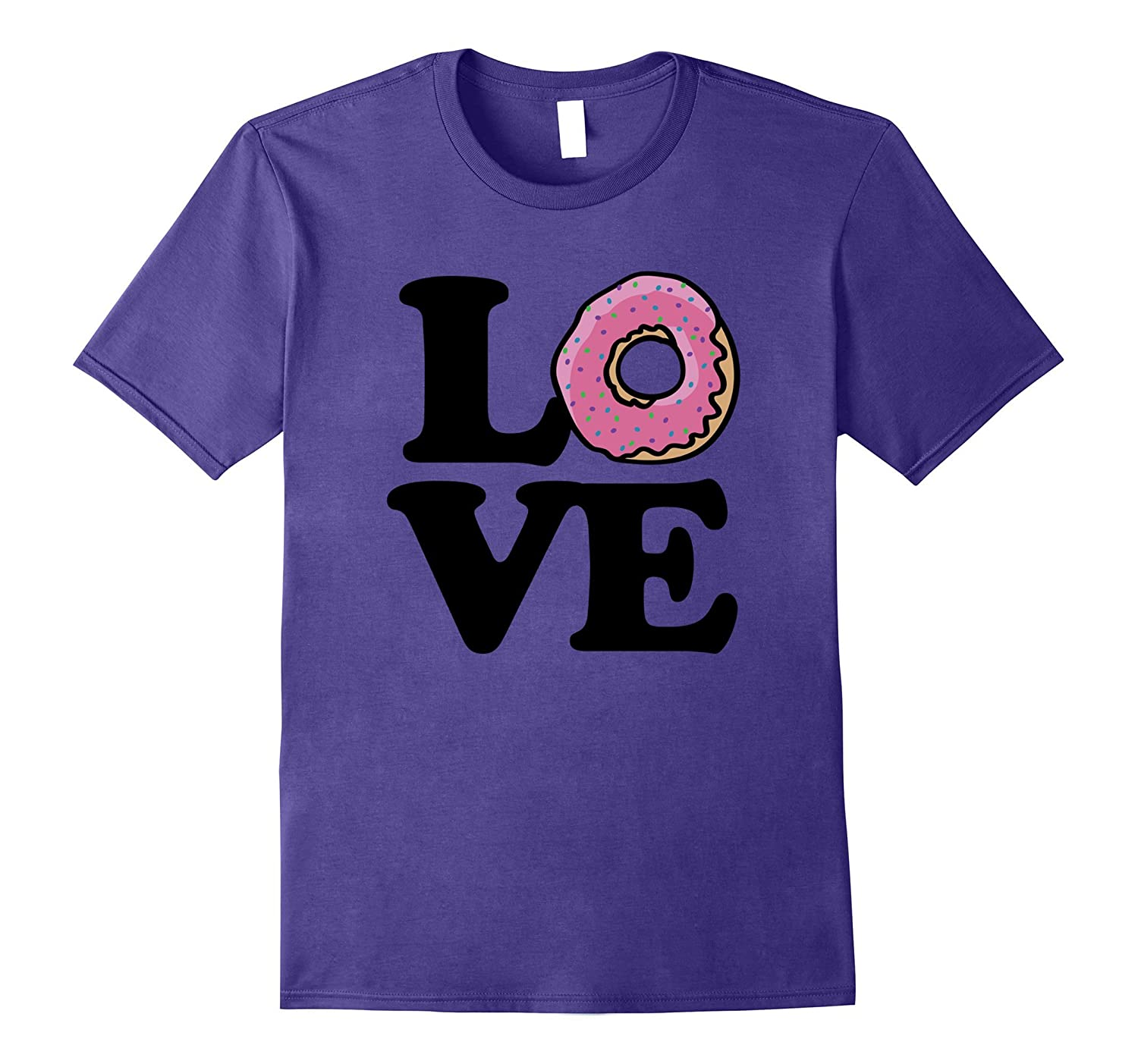 I love Donuts shirt donut love tee shirts with a pink donut-Vaci