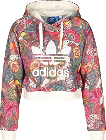 adidas Damen F Crop Hoodie Sweatshirt, Mehrfarbig (Multco), 28 ... c2d4ae054b