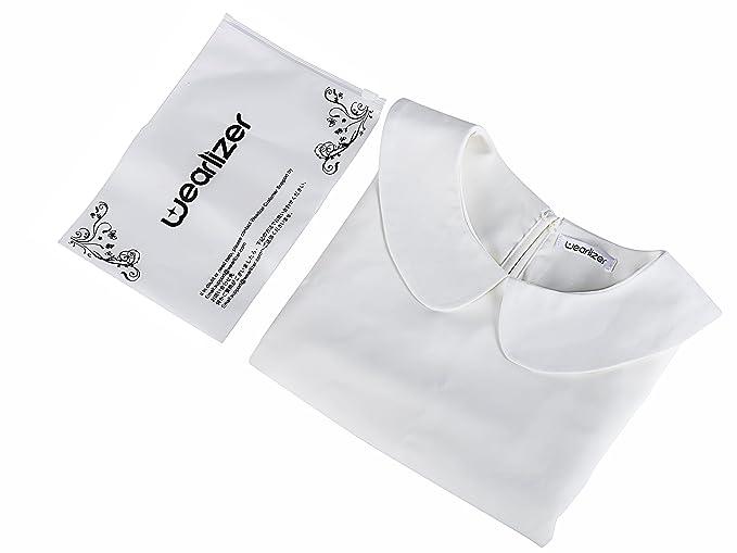 Wearlizer Blusa de la Mediana Camisa de Las Mujeres Detachable Fake Collar: Amazon.es: Ropa y accesorios