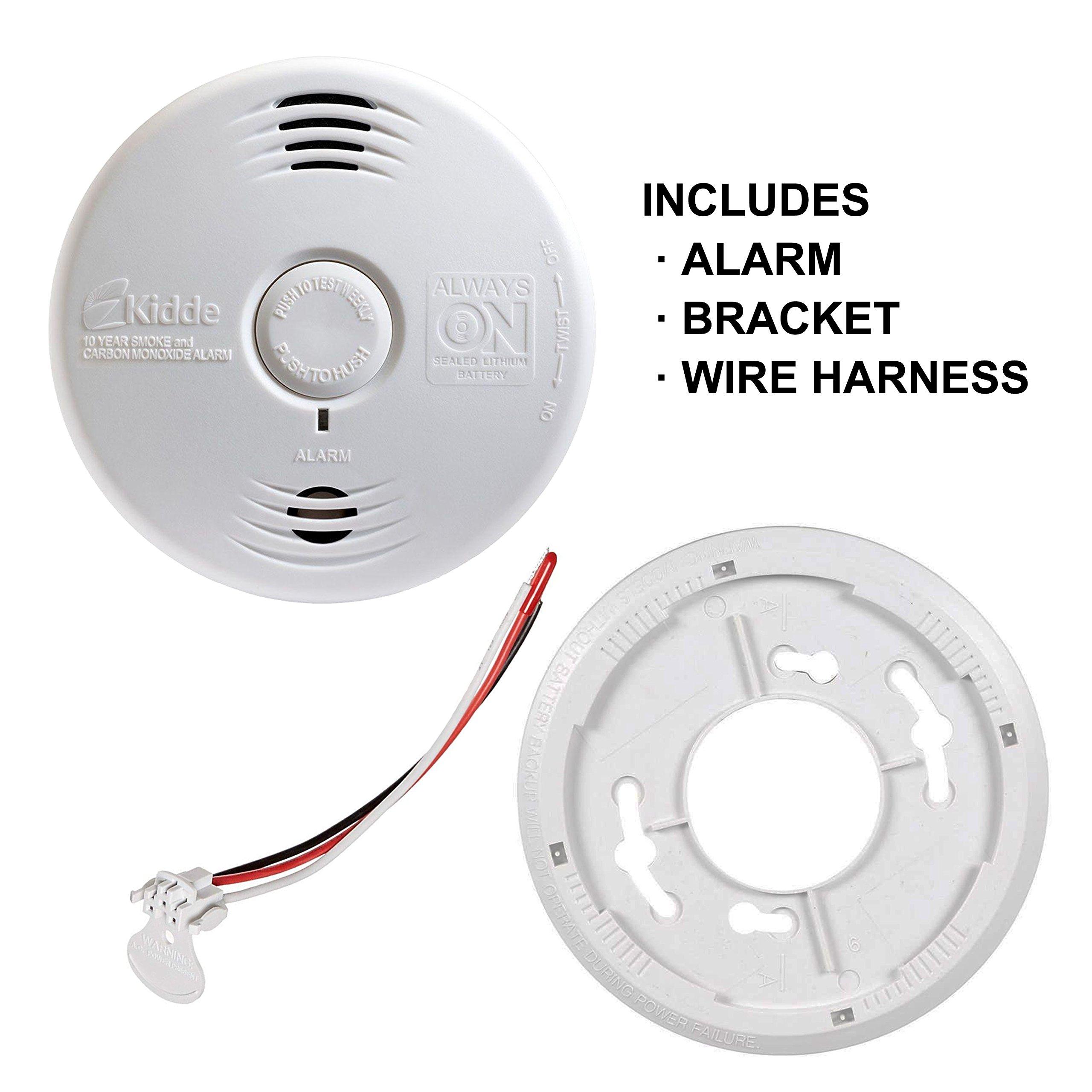 Worry-Free Hardwired Smoke & Carbon Monoxide Alarm with Lithium Battery Backup I12010SCO by Kidde (Image #2)