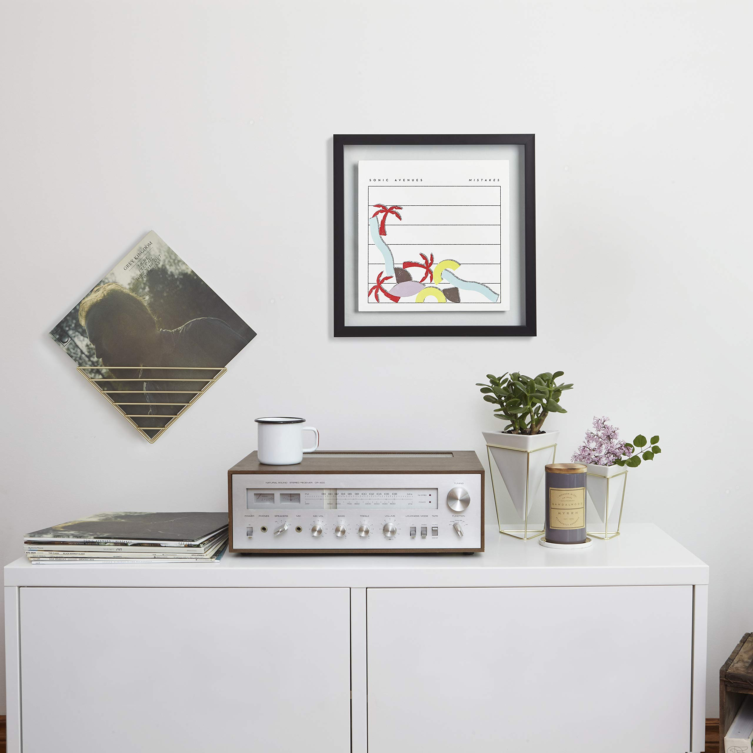 Umbra Record Album Frame 14-1/2x14-1/2-Inch, Modern Picture Frame Designed to Display a Floating 12-Inch by 12-Inch Album Cover by Umbra (Image #11)