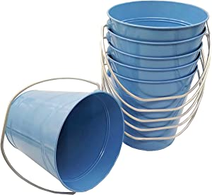 Italia 6-Pack Metal Bucket 0.5 Quart Color Light Blue Size 4.3 x 4.3