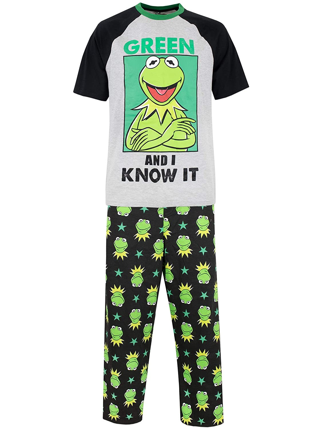Disney The Muppets Mens Kermit Pajamas
