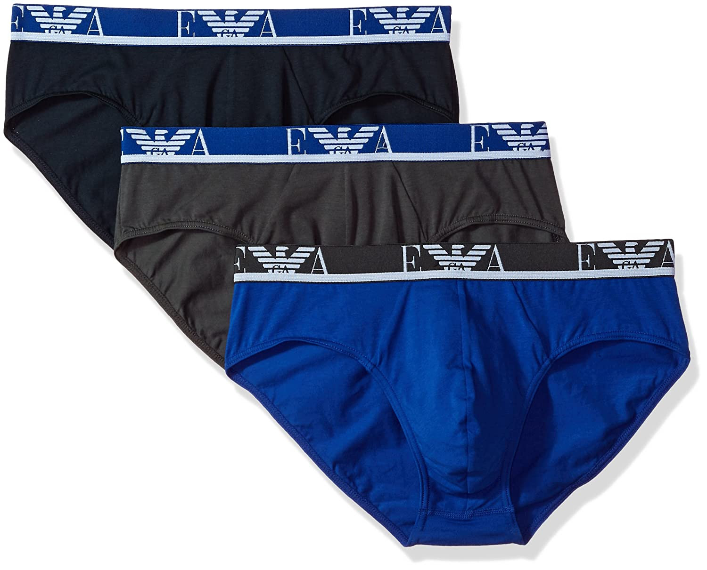Emporio Armani Men's Stretch Cotton Ea 3 Pack Brief 1117347A71505191