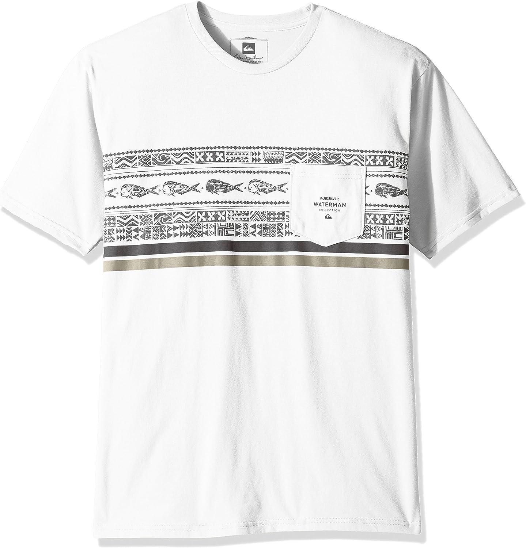 Quiksilver Hombre AQMZT03275 Manga Corta Camisa de Botones - Blanco - Small: Amazon.es: Ropa y accesorios