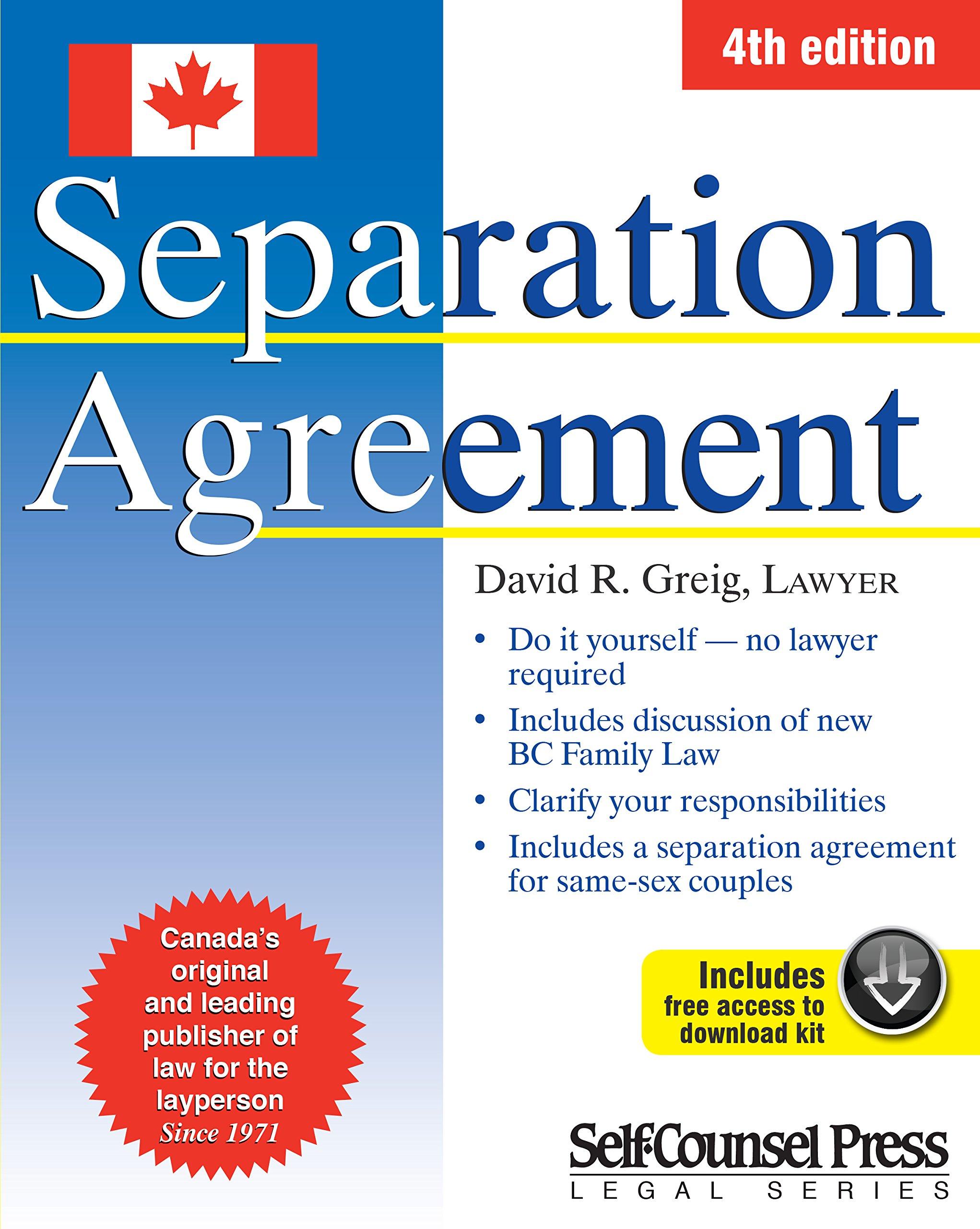 Separation Agreement 9781770402287 Amazon Books