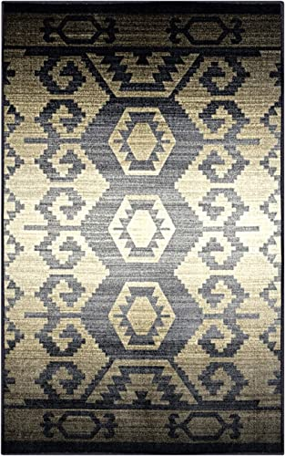 SUPERIOR Halo Geometric Southwestern Non-Slip Indoor Area Rug