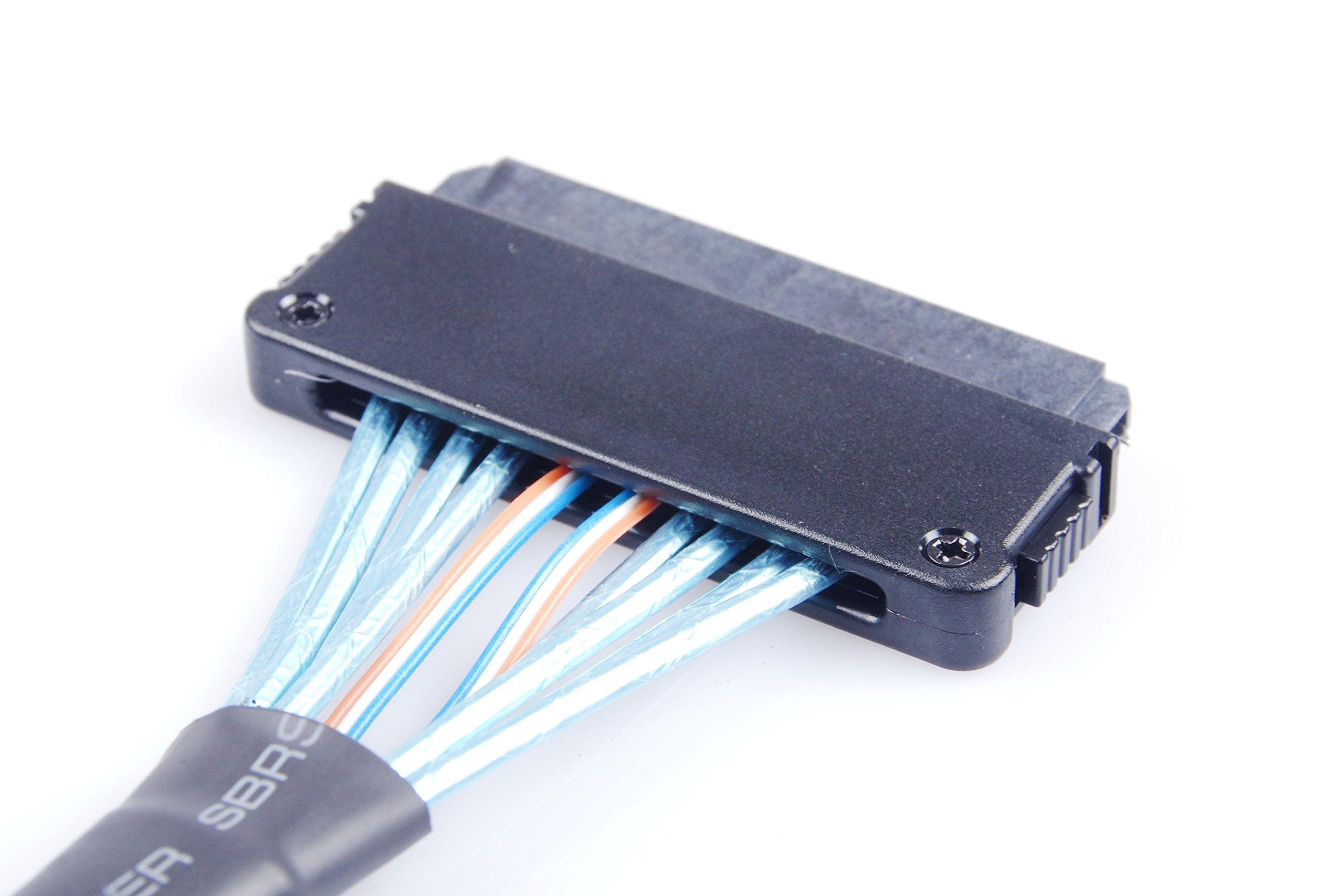 KNACRO Mini SAS Cable SFF-8087 36Pin to SAS SFF-8484 32pin - SAS Adapter 1.64ft(0.5m by KNACRO (Image #7)