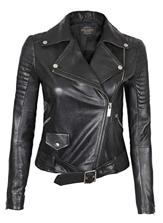 f7e400943 Womens Black Leather Jacket - Genuine Lambskin Chocolate Brown Leather  Jackets for Women