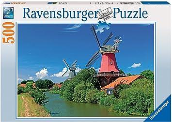 Ravensburger 14173 Molino de Viento romntico - Puzzle, 500 Piezas
