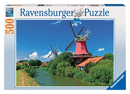 Multicolor 500 Piece Ravensburger 14798 Blossom Park Jigsaw Puzzle