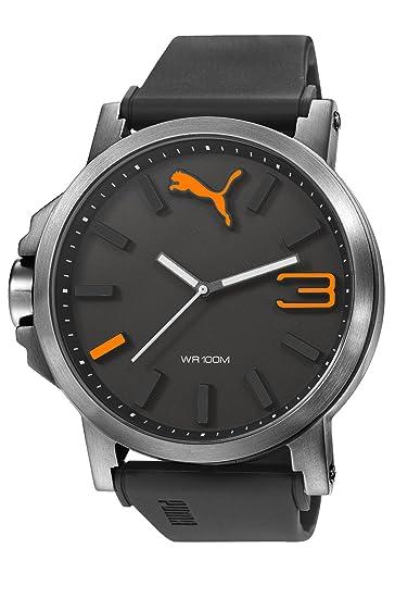 0ae53c5c3 Reloj Puma Reloj Análogo gris con naranja para Hombre: Puma: Amazon ...