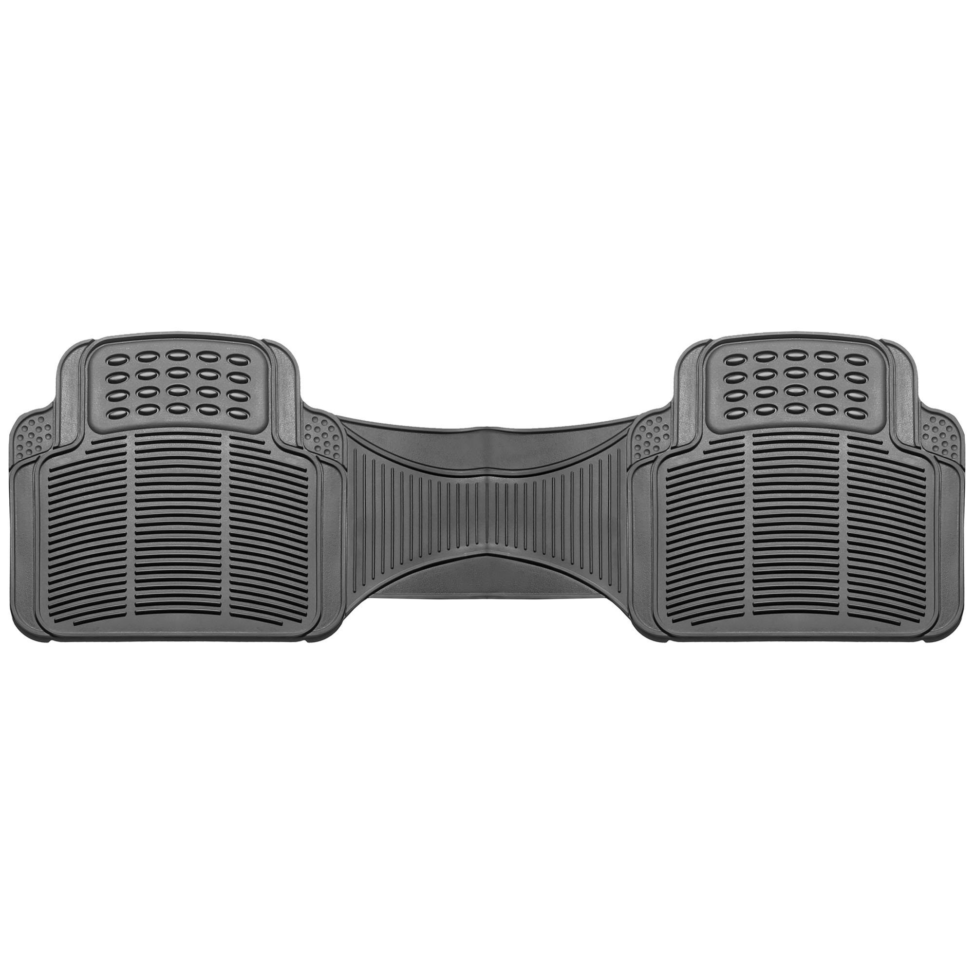FH GROUP F11306-3ROW Quality All Weather Rubber Auto Floor Mats Liner - Gray by FH Group (Image #2)