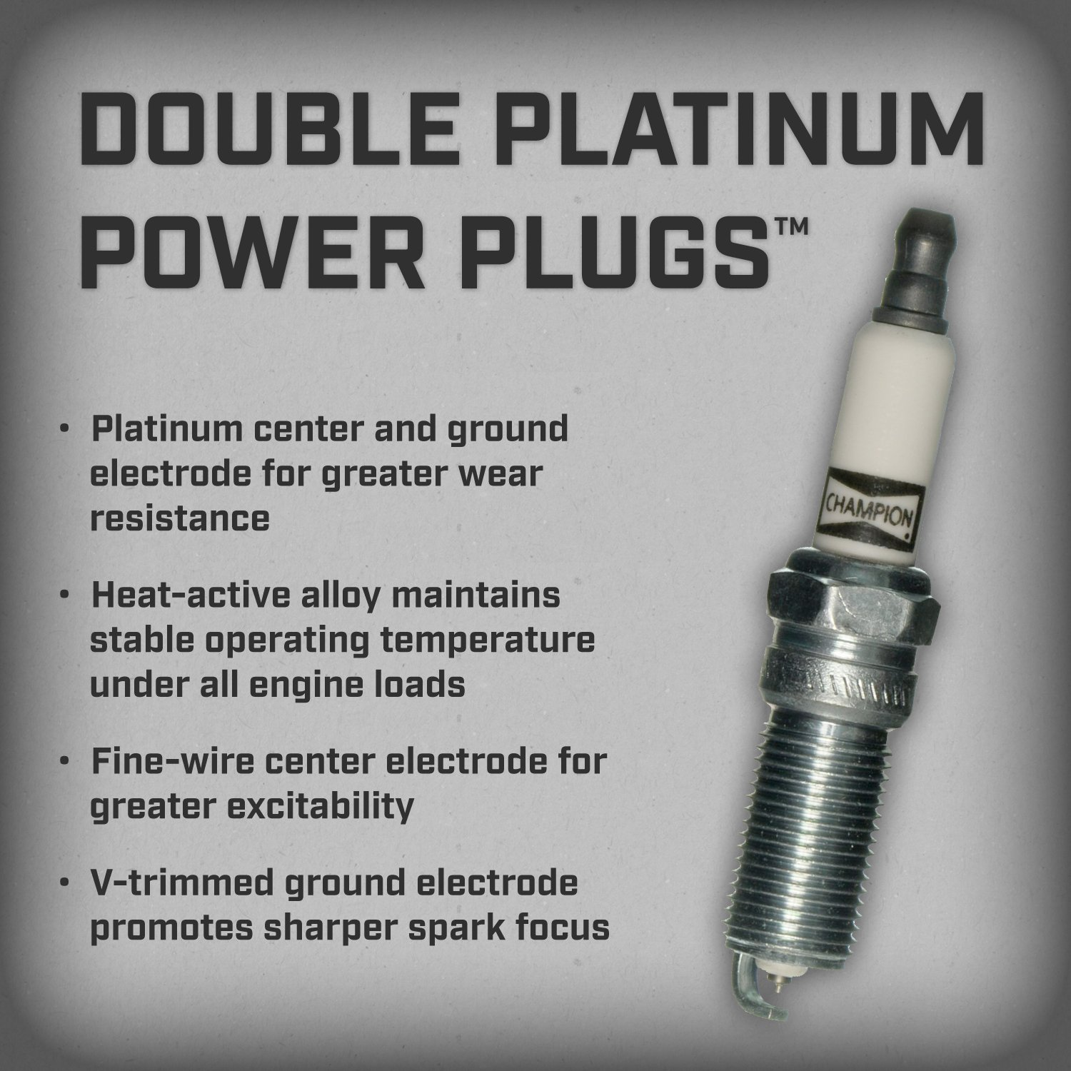 Amazon.com: Champion 7437 Double Platinum Power Replacement Spark Plug, (Pack of 1): Automotive