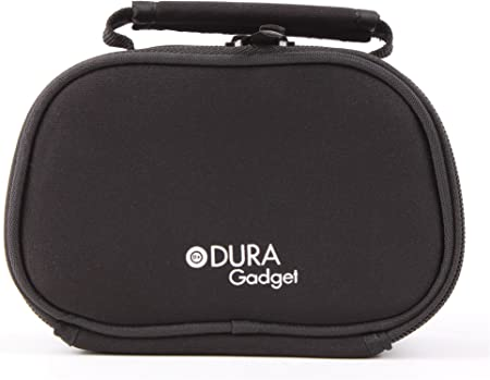 Compatible with The Hyundai HCAM6 Action Cam DURAGADGET Black Neoprene Lightweight Zip-Locked Camcorder Carry Case
