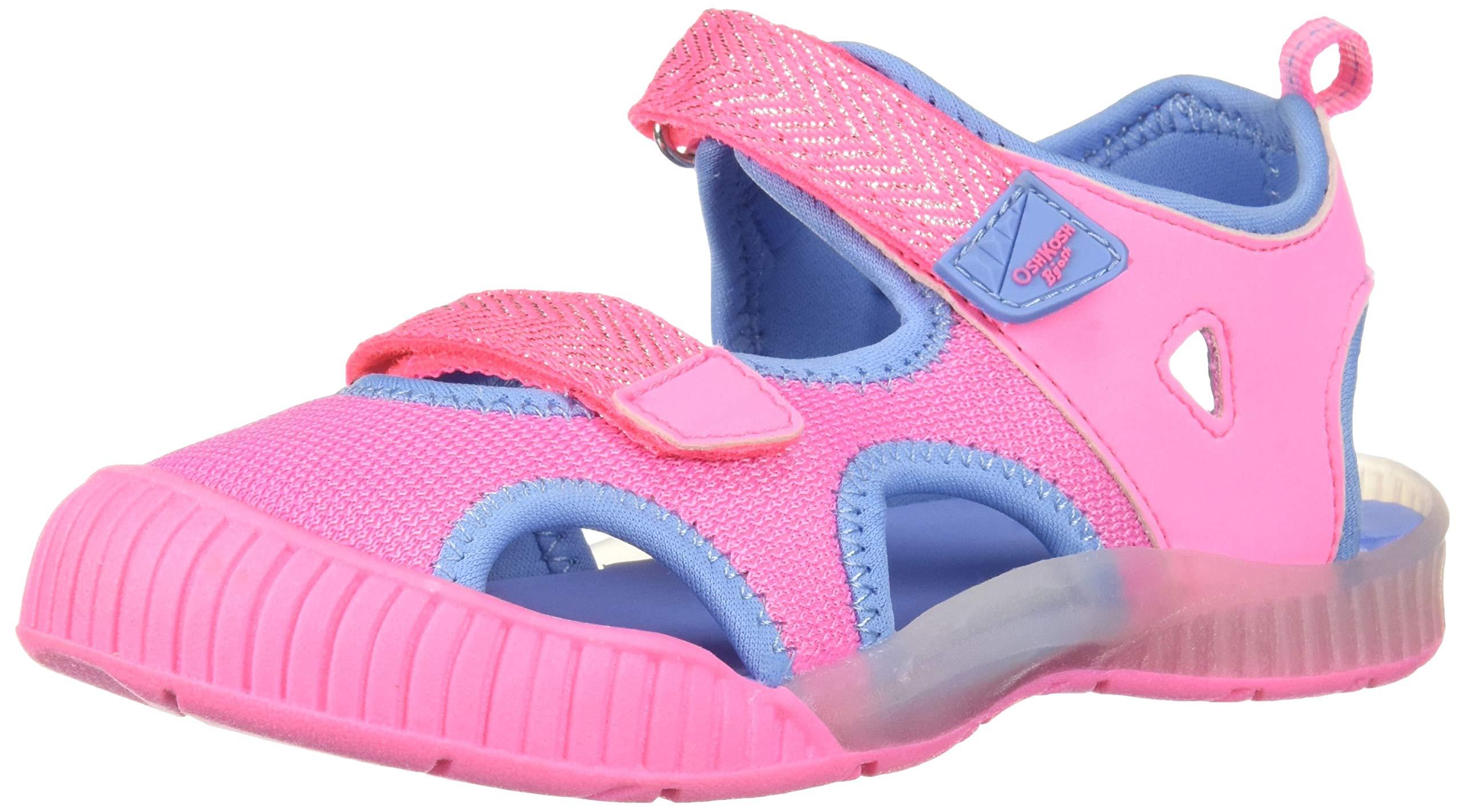 OshKosh B'Gosh Unisex-kids Zap Light-Up Athletic Sandal Sport, Pink, 11 M US Toddler