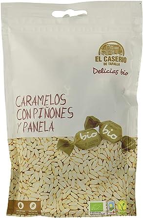 El Caserio de Tafalla Caramelos Piñones y Panela BIO 65gr - Pack de 15 unidades de
