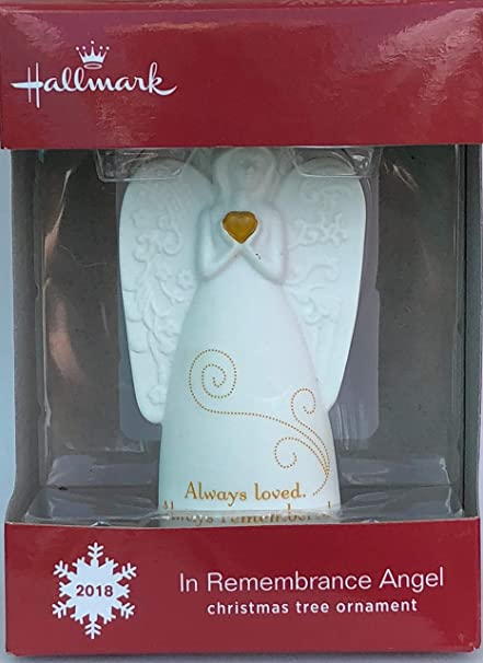 Angel Of Christmas Hallmark.Hallmark 2018 In Remembrance Angel Christmas Tree Ornament
