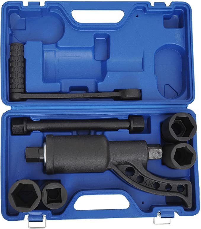 Homcom 8 Teiliges Drehmoment Set Drehmomentvervielfältiger Drehmomentsverstärker Schraubenlöser Kraftschrauber Verstärker 4800 Nm E8 0001 Baumarkt