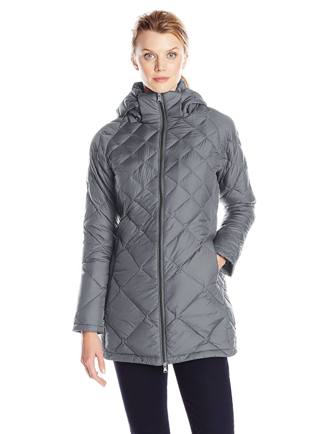 Charcoal Hawke & Co. Women's DiamondQuilted Packable Down Coat