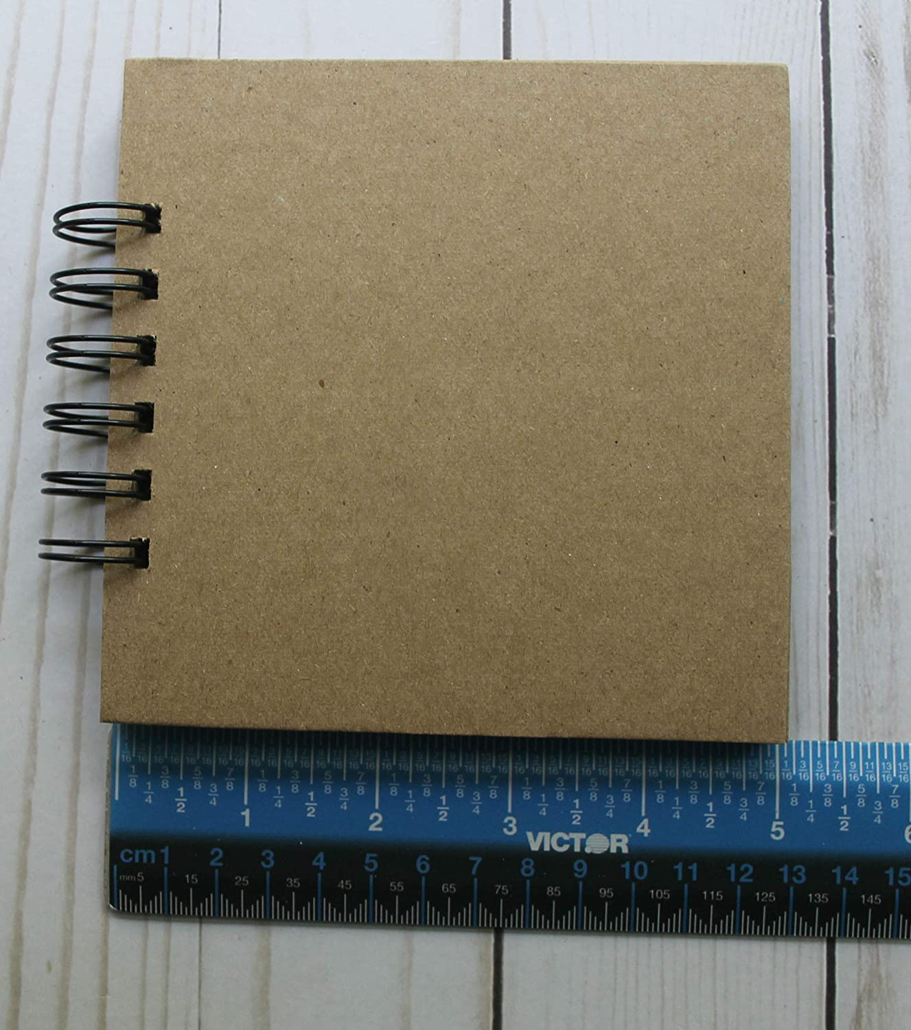 6 3//8 x 8 Chipboard Album 6 pages w//book rings or wire binding