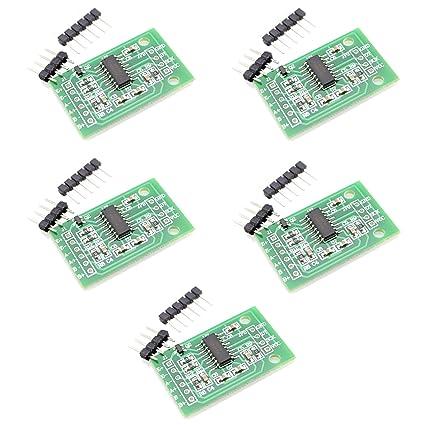 Optimus Electric HX711 - Juego de 5 Unidades de Sensor de Medición de Peso, Presión