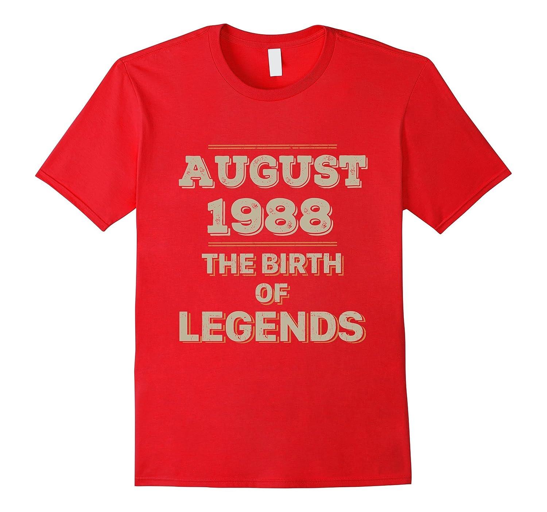 29th Birthday Gift August 1988 Birth of Legend Tee Shirt-Art