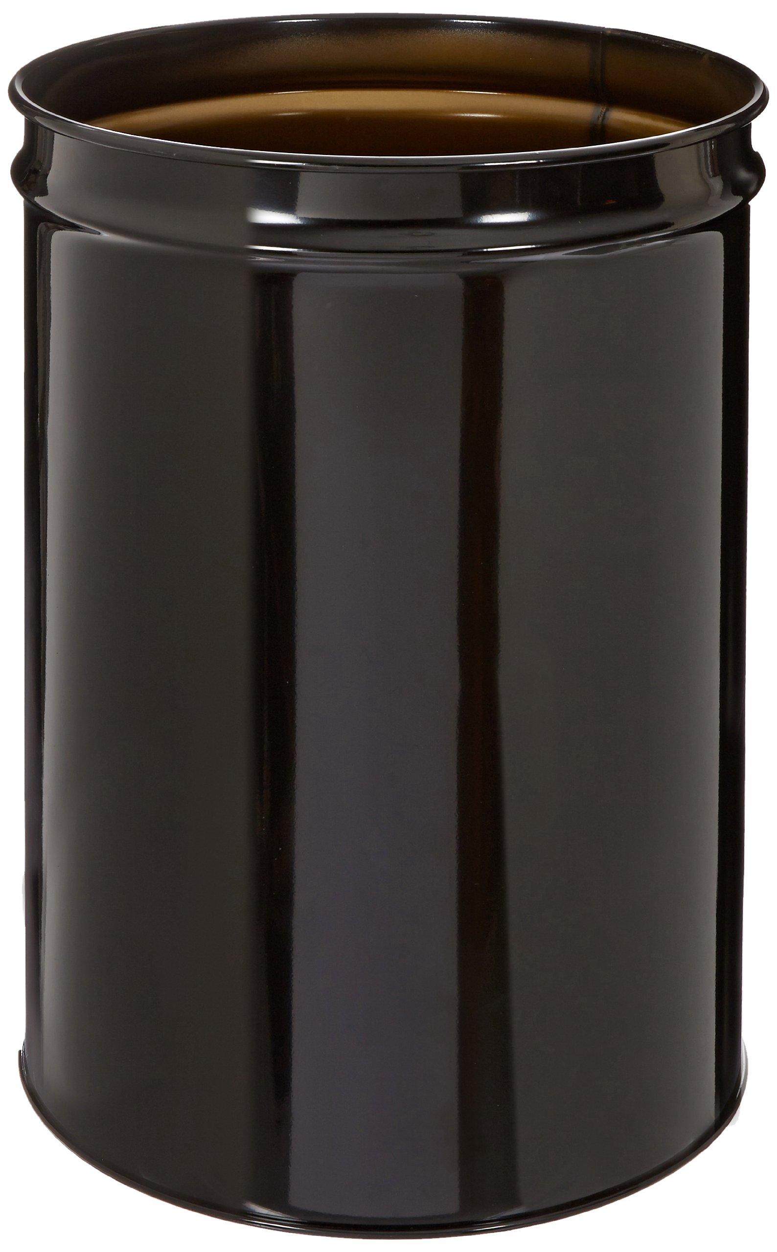 Justrite 26054K Cease-Fire Steel Drum, 55 Gallon Capacity, 23-3/4'' OD x 34-1/2'' Height, Black