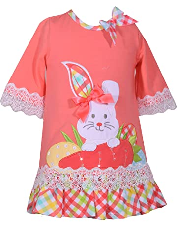b10618464405 Bonnie Jean Baby Toddler and Little Girl s Easter Dress with Bunny Applique