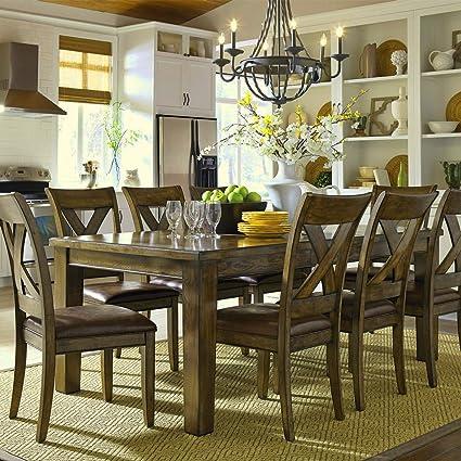 6 - 8 plazas mesa de comedor Shabby Chic madera sillas de 8 rústico ...