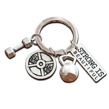 Llavero especial con Mini pesa Kettlebell y Weight Fitness Gym Llavero para Bodybuilder Regalo para levantamiento de pesas y levantamiento de pesas CrossFit ...