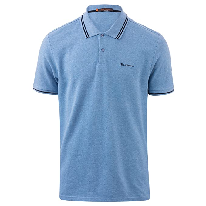 Ben Sherman Mens Short Sleeve Tipped Polo Camiseta Azul Cielo ...