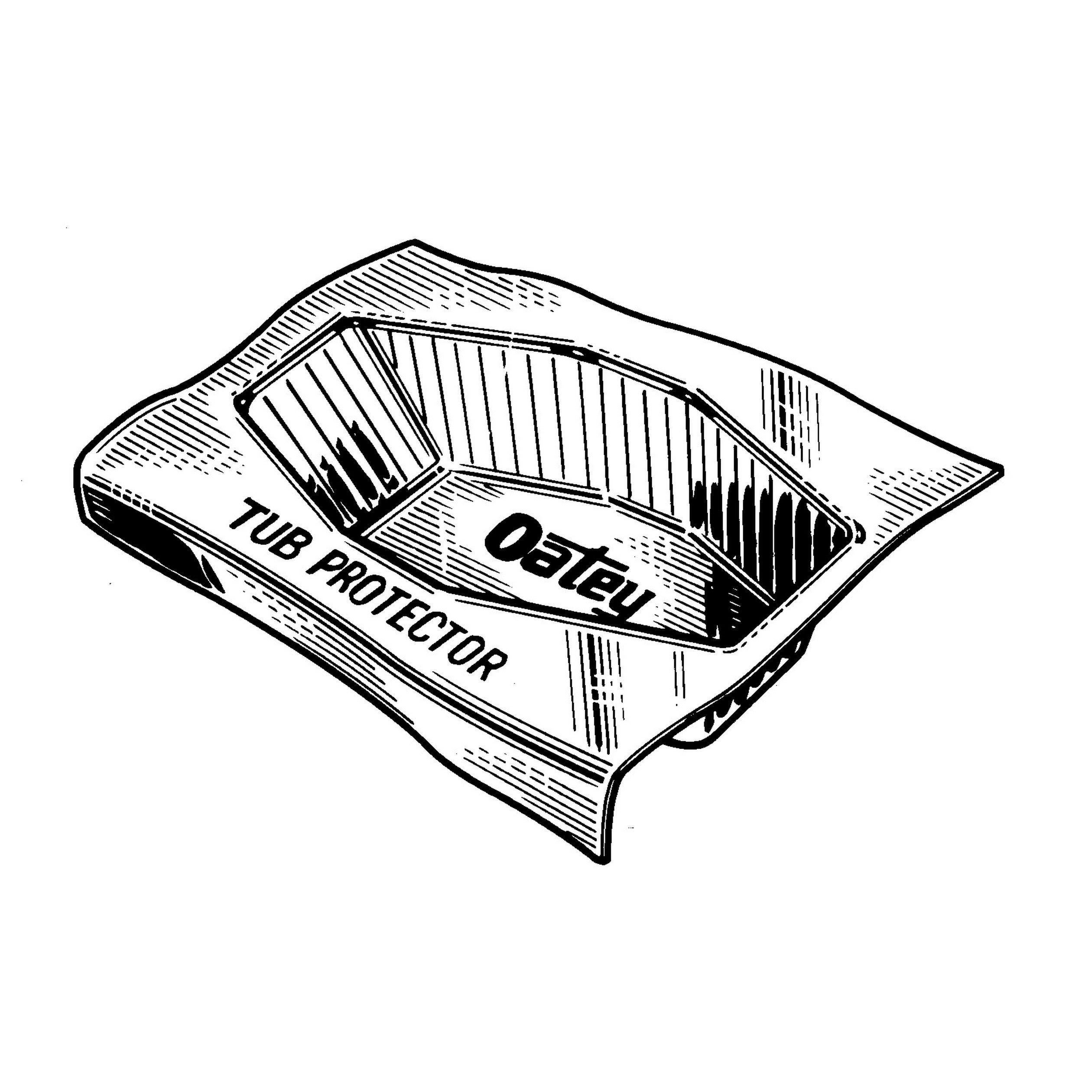 Oatey 34068 15-Inch Deep/57-Inch Long Fits 14-Inch Tubs 15-Inch